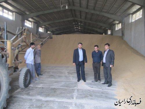 بازدید مهندس صادقلو از مراکز خرید تضمینی گندم در شهرستان رامیان