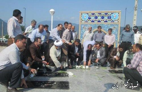 تجدید بیعت کارکنان دادگستری شهرستان رامیان با آرمانهای مقدس شهدا