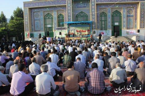 برگزاری دعای ندبه در امامزاده قاسم شهر دلند/تصاویر