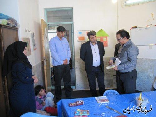 بازدید فرماندار رامیان از مرکز توانبخشی معلولان ذهنی امیر المومنین