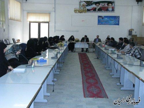 اتاق فکر بانوان شهرستان رامیان تشکیل می شود