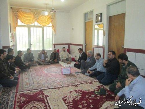 دیدار مدیرکل کمیته امداد امام خمینی(ره)  با خانواده های تحت پوشش شهرستان رامیان