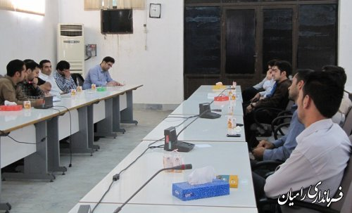 جلسه بررسی نحوه تشکیل اتاقهای فکر جوانان شهرستان رامیان