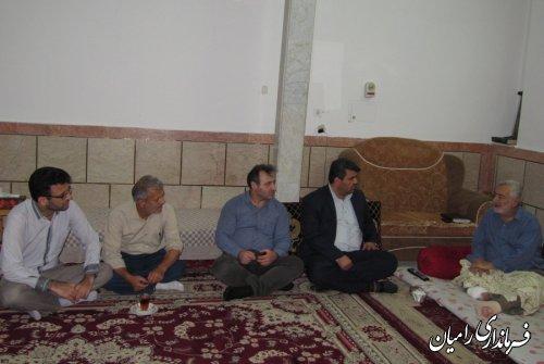 دیدار فرماندار رامیان از یک خبرنگار در بستر بیماری