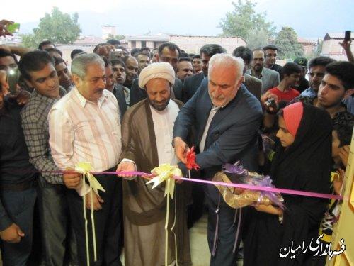 افتتاح سالن ورزشی شهید شهبازی روستای بلوچ آباد سیاه خان