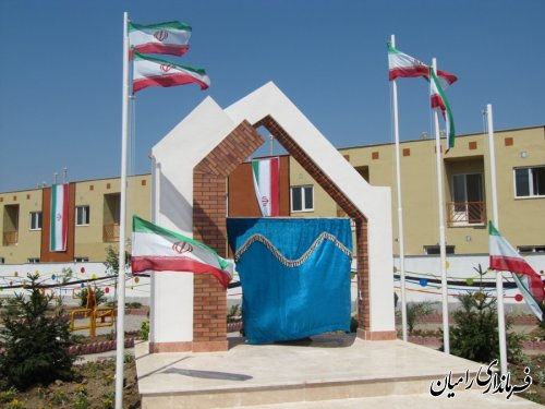افتتاح 182 واحد مسکن مهر شهر دلند با حضور رئیس بنیاد مسکن کشور