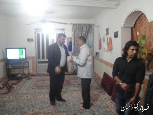 دیدار فرماندار رامیان از خانواده های سه شهید وجانباز جنگ تحمیلی