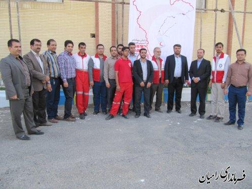 مانور آمادگی در برابر زلزله در شهرستان رامیان برگزار شد
