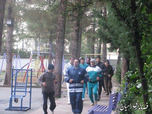 ورزش صبحگاهی کارکنان ادارت شهرستان رامیان برگزار شد