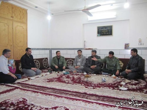 دیدارفرماندار شهرستان رامیان با دو تن از جانبازان روستای توران ترک