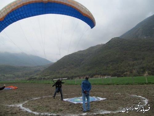 آغاز مسابقات کشوری پاراگلایدر در سایت پروازی رامیان