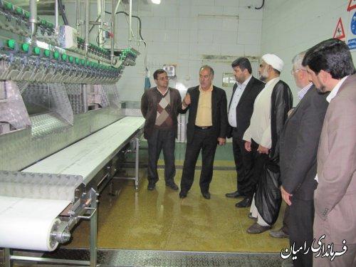 بازدید فرماندار رامیان از خط تولید کشتارگاه صنعتی گلند