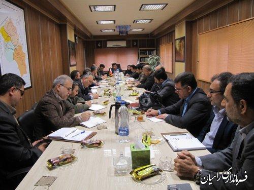 تشکیل اولین  کارگروه سلامت و امنیت غذایی شهرستان رامیان در سال 1394