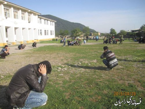 حضور فرماندار رامیان در رزمایش دانش آموزی پدافند غیر عامل