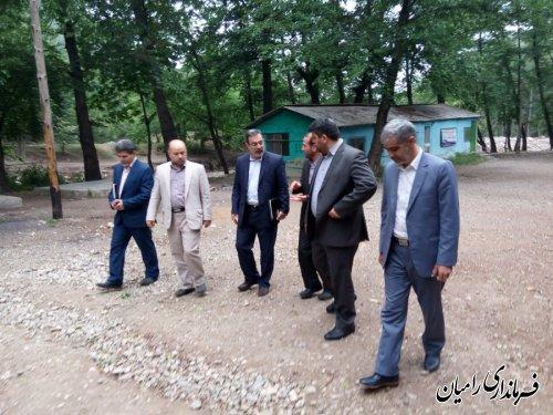 بازدید فرماندار و معاون وزیر آموزش و پرورش از اردوگاه دانش آموزی شهید بهشتی رامیان