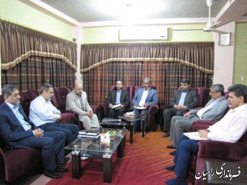 جلسه پیگیری مشکلات آموزشی مدیریت آموزش و پرورش شهرستان رامیان