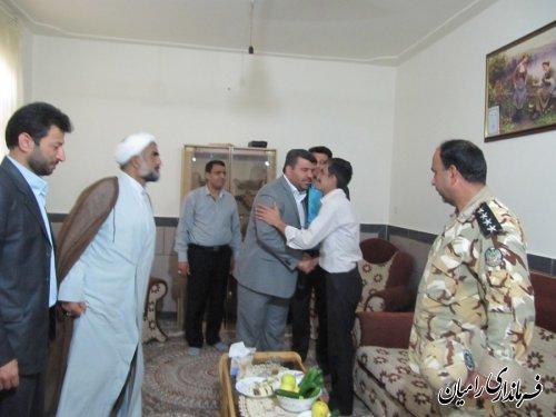 دیدار فرماندار رامیان با 3 تن از جانبازان شهرستان