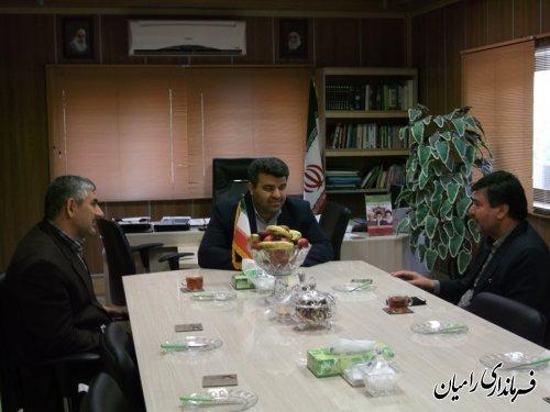 دیدار رئیس سازمان جهاد کشاورزی استان با فرماندار رامیان