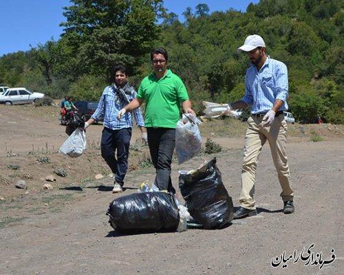 همایش پاکسازی محیط زیست، منطقه گردشگری النگ رامیان