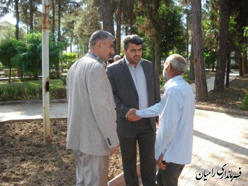 حضور فرماندار رامیان در مراسم گرامیداشت هفته کرامت سالمندان