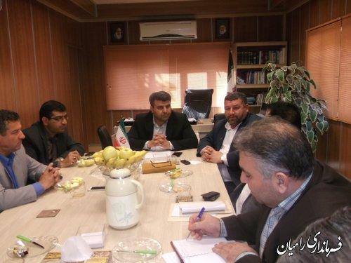 برگزاری جلسه مشترک حوزه های انتخابیه شهرستان های رامیان و آزادشهر