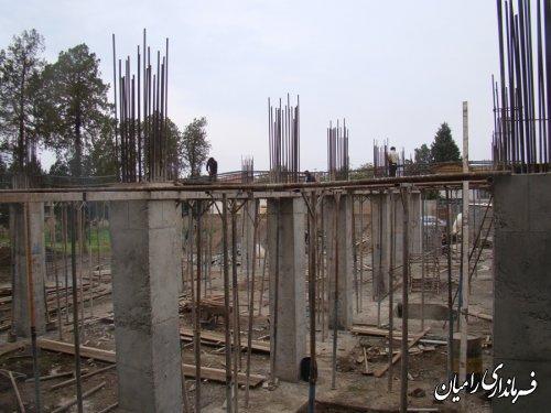 بازدید فرماندار از مراحل ساخت پروژه مرکز جامع سلامت رامیان