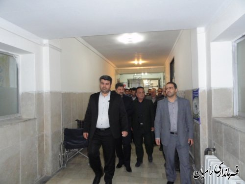 بازدید فرماندار رامیان و رئیس دانشگاه علوم پزشکی استان از پروژه های بهداشتی درمانی
