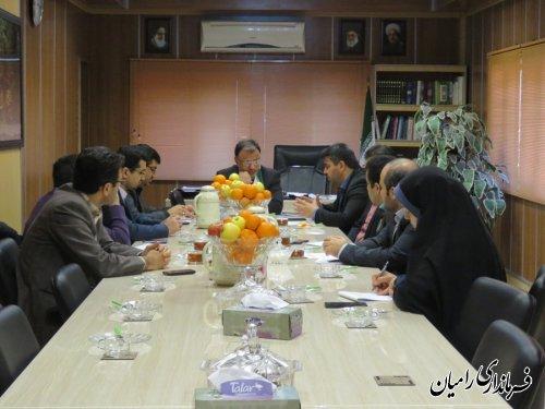 تشکیل پانزدهمین جلسه ستاد انتخابات شهرستان رامیان