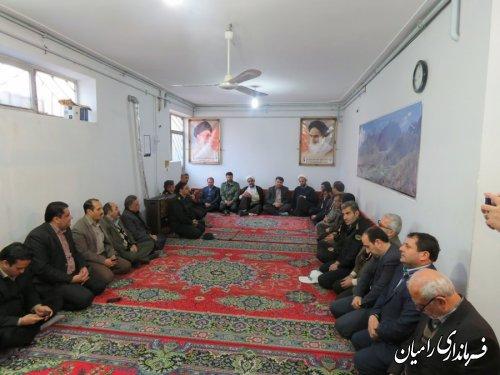 دیدار فرماندار و مسئولین شهرستان با امام جمعه رامیان