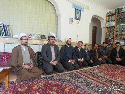 دیدار فرماندار با امام جمعه شهر خان به بین