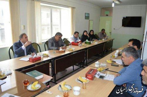 تشکیل شورای آموزش و پرورش شهرستان رامیان