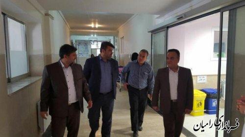 بازدید فرماندار رامیان از پروژه های در حال اجرای حوزه سلامت  شهرستان