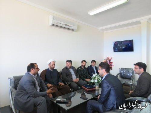 دیدار فرماندار رامیان با مسئولین قضایی شهرستان