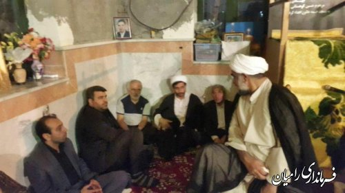 برگزاری مراسم افطار در امامزاده حلیمه خاتون رامیان
