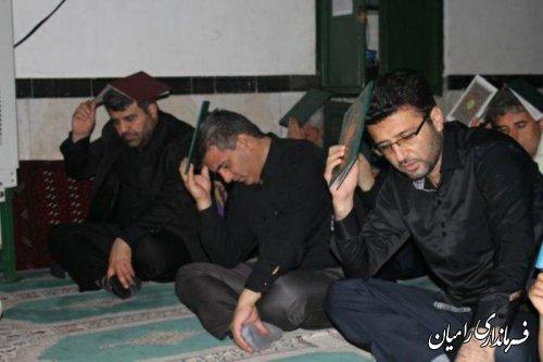 برگزاری مراسم شب بیست و یکم ماه رمضان در مساجد رامیان