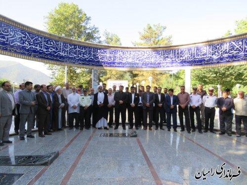 غبار روبی گلزار شهدای شهر رامیان با حضور فرماندار و مسئولین شهرستان انجام گرفت