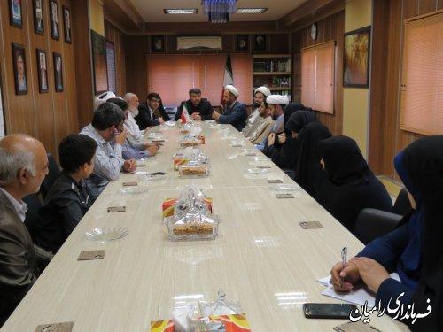 دیدار روسای تبلیغات اسلامی و فرهنگ و ارشاد اسلامی شهرستان به همراه کارکنان با فرماندار