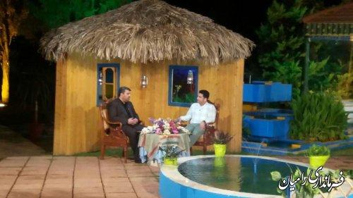 حضور مهندس صادقلو فرماندار در برنامه زنده تلویزیونی شبهای هیرکان