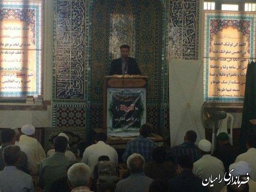ارائه گزارش عملکرد دولت تدبیر و امید در بخش مرکزی توسط بخشدار در نمازجمعه دلند