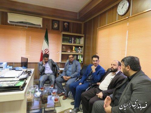دیدار مسئولین قضایی شهرستان با فرماندار رامیان