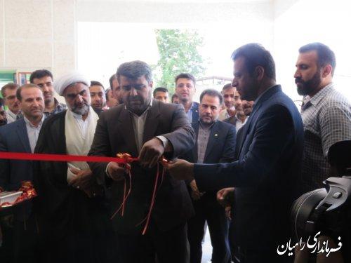 افتتاح متمرکز پروژه های عمرانی و اقتصادی بخش مرکزی رامیان