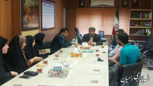 دیدار رئیس و مسئولان هیئت های ورزشی اداره ورزش و جوانان خان به بین با فرماندار