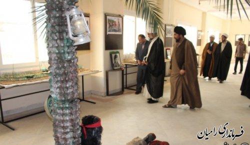 افتتاح نمایشگاه حجم و ماکت دفاع مقدس در رامیان