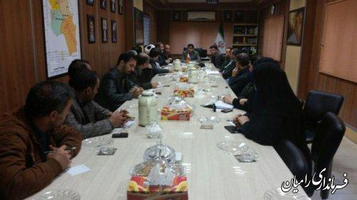 تشکیل ستاد اربعین حسینی در شهرستان رامیان