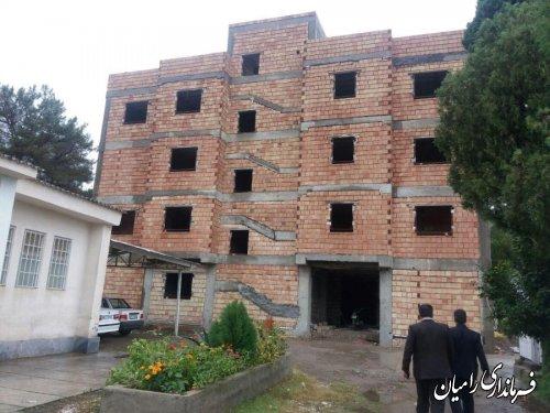 بازدید فرماندار رامیان از روند اجرای پروژه مرکز جامع سلامت رامیان