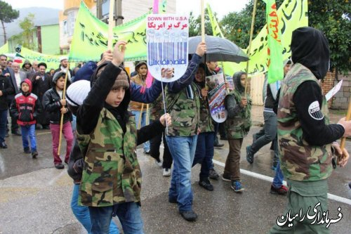 راهپیمایی یوم ا... 13 آبان در شهرستان رامیان