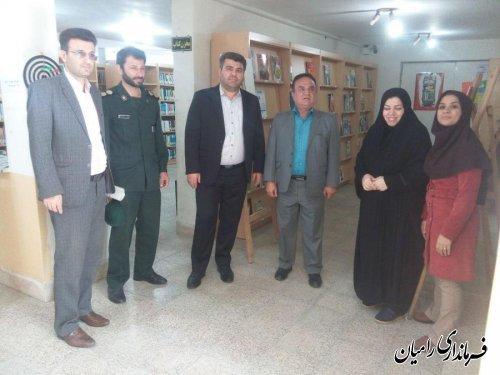 بازدید فرماندار رامیان از کتابخانه عمومی شهر رامیان در روز کتاب و کتابخوانی و کتابدار
