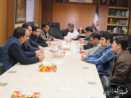 تشکیل اولین جلسه ستاد انتخابات ریاست جمهوری وشوراهای اسلامی شهرو روستا درشهرستان رامیان