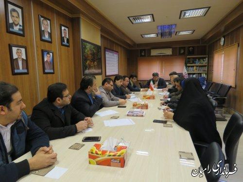 تشکیل چهارمین جلسه ستاد انتخابات داوزدهمین دوره ریاست جمهوری و پنجمین دوره شوراهای اسلامی شهر و روستا در شهرستان رامیان