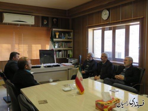 نشست فرماندار با اعضای هیات نظارت برانتخابات دوازدهمین دوره ریاست جمهوری در شهرستان رامیان